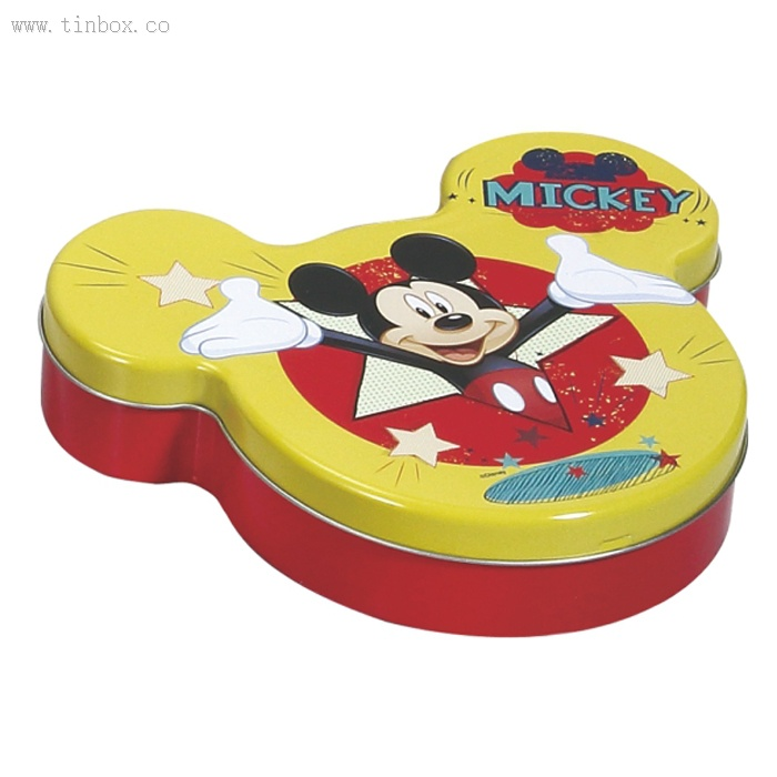 mickey mouse shaped tin coffee box