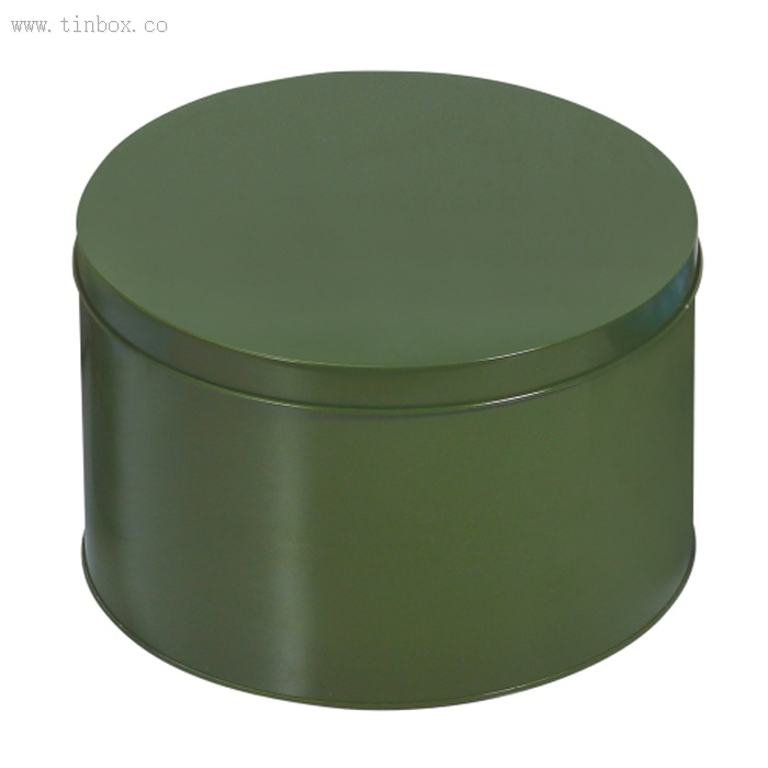 round tin coffee box