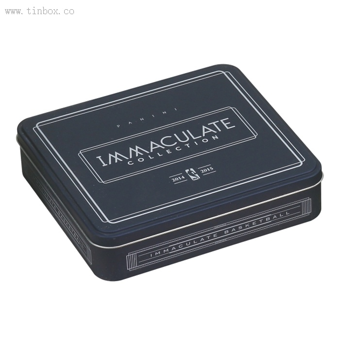 black rectangular coffee tin box