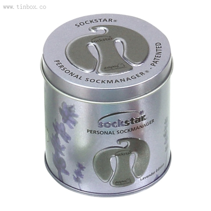 embossed round coffee tin box