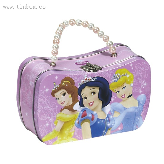 disney pearl handle lunch tin box