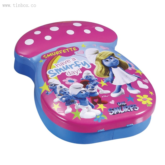 THE SMURFS cosmetic tin box