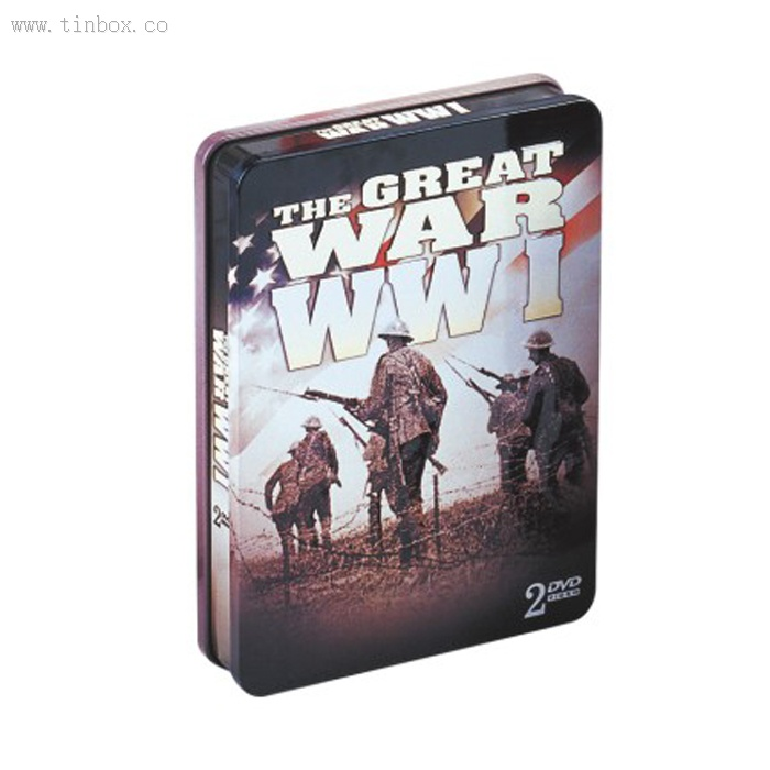 rectangular double cover DVD tins