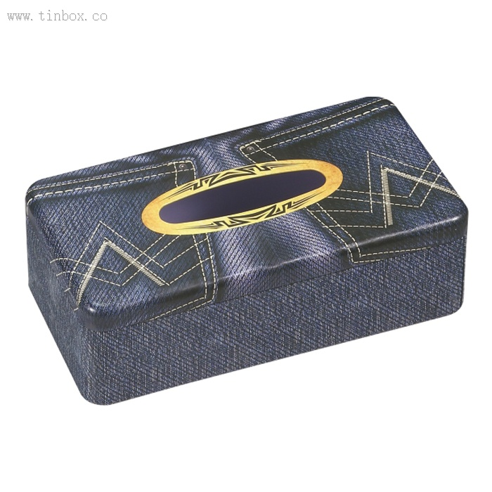 rectangular tissue tin box