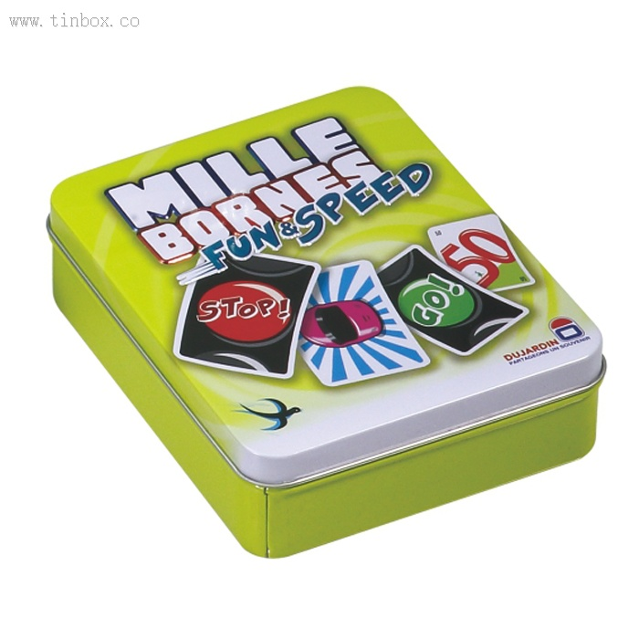MILLE BORNES Card Games, Playing Cards tin box