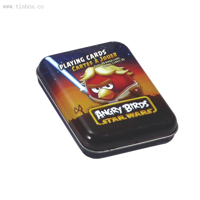ANGRY BIRDS STAR WARS playing cards tin box