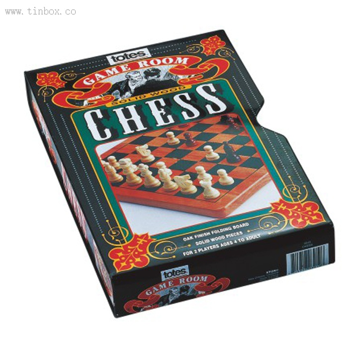totes game room chess packaging tin box