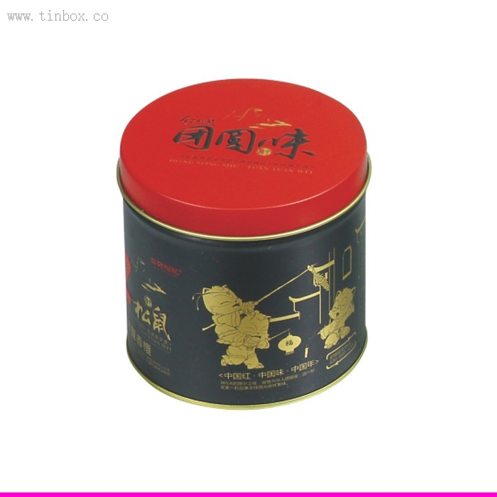 Popular round tea tin box