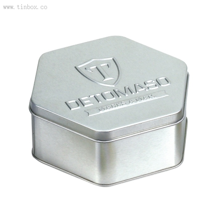 DETOMASO Hexagonal Watch Tin Box