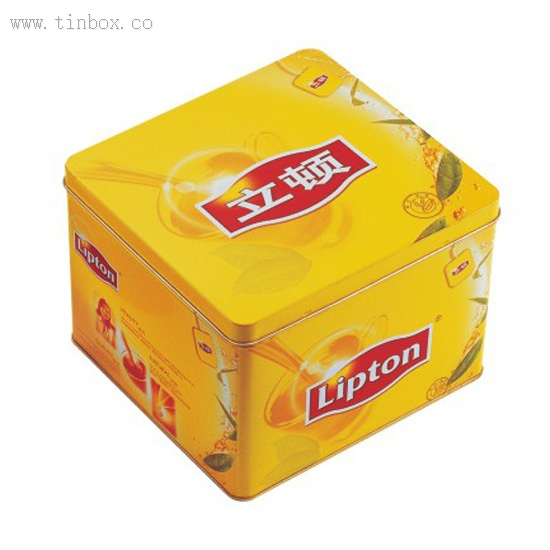 Lipton tea tin box