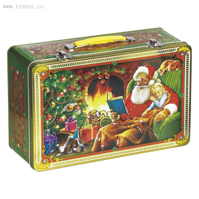bulk christmas empty cookie tins wholesale