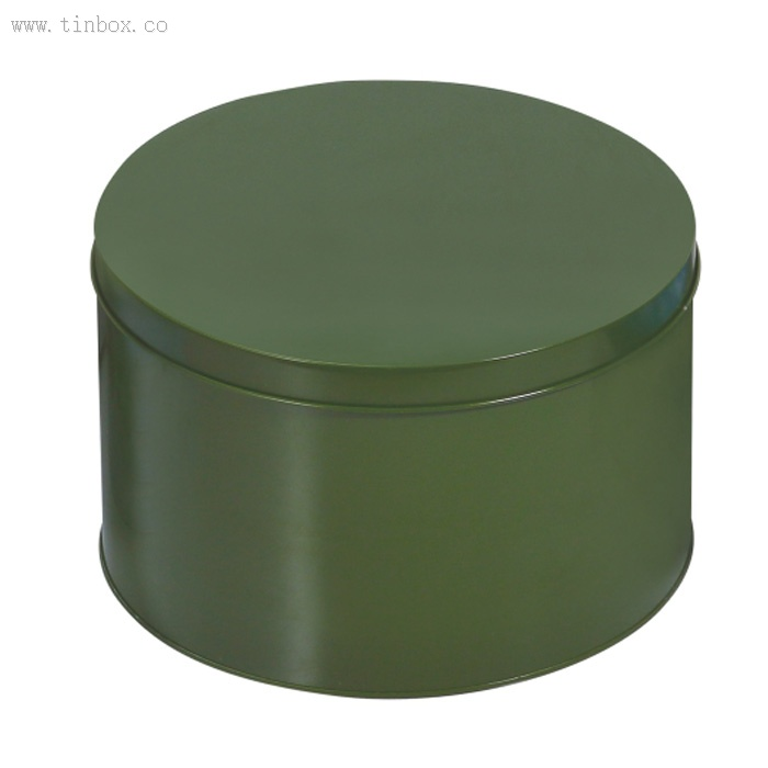 round wine packaging tin box