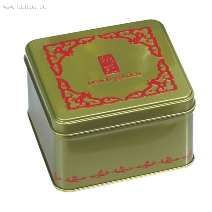 Decorative Rectangular Biscuit Tin With Lid China Decorative Beauteous Decorative Metal Boxes With Lids