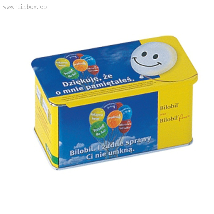 push-pull tin box for candy packaging