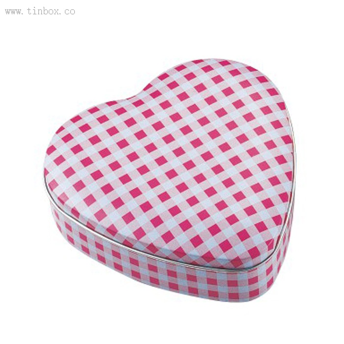 small heart shaped Cookie Tin Box