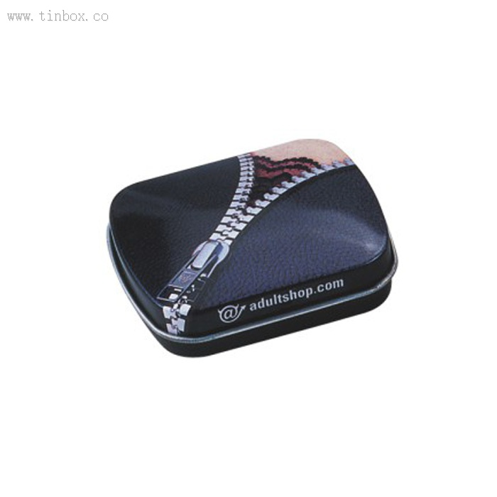 Customer hinged lid Rectangle Gift Chocolate/ Biscuit Cookie Candy Metal tin Container tin box