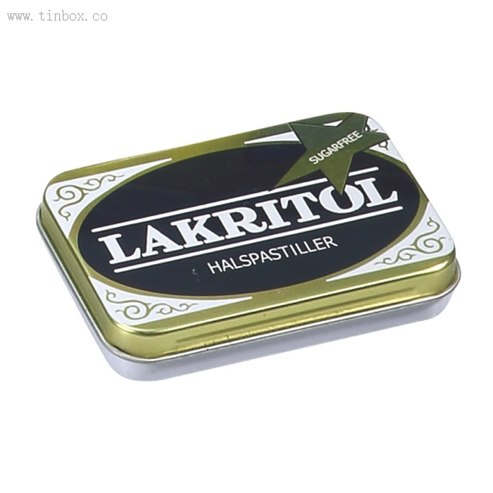 small hinged lid rectangular cigarette tin box