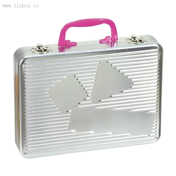 double lid tin lunch box