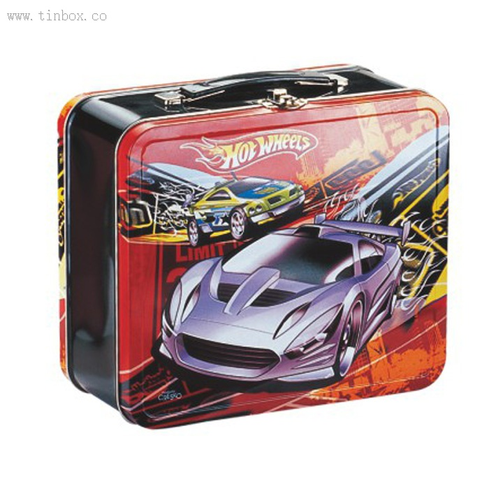 tin lunch box with double lid