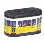 bus shaped chocolate tin box