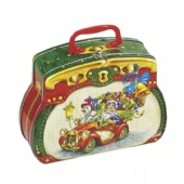 purse shaped chocolate tin box with handle