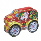 chocolate car shaped tin box with handle