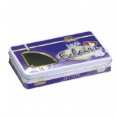 window chocolate rectangular  tin box