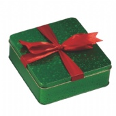 square chocolate gift tin box