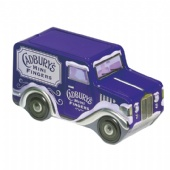 vintage car shaped chocolate tin box