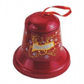 tin bell shaped chocolate box