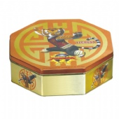 coffee octagon tin box