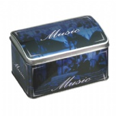 premium coffee rectangular tin with domed lid
