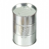 Stacking round coffee tin box