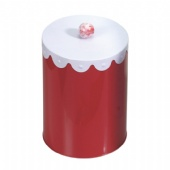 round coffee tin box with handle