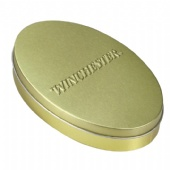 golden ellipse coffee tin box