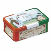 hinged rectangular coffee tin box
