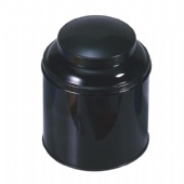 black round coffee tin packaging box