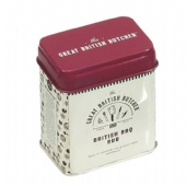 rectangular coffee tin box with step lid