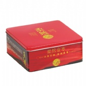 square tin tea box