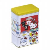 tall rectangular tea tin box
