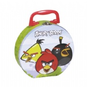 angry bird D-shaped lunch tin box