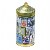 pagoda shaped tea tin box