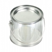 clear PVC tea bag bucket with press-in lid