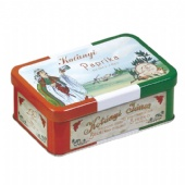 hinged tea tin box