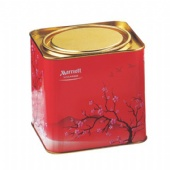 square tea tin box with press-in lid