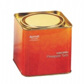 air-proof square tea tin box with lever lid