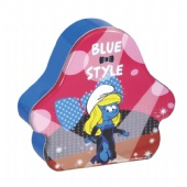 blue style cosmetic tin box