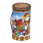 Christmas Personalized Cylinder wine tin box
