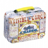 vintage tin suitcase for wine packaging