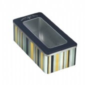 PVC window rectangular watch tin